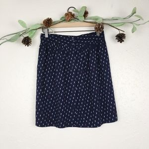 Gap red, white, and navy a line skirt